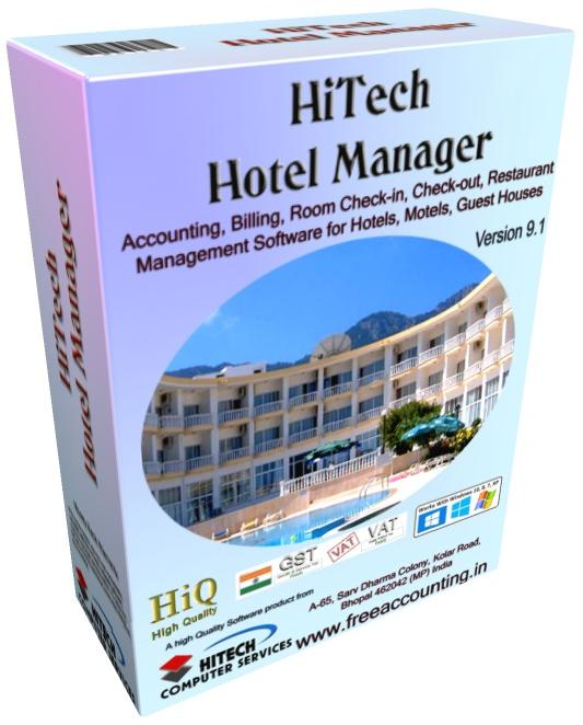 Billing and Accounting Software for management of Hotels, Restaurants, Motels, Guest Houses. Modules : Rooms, Visitors, Restaurant, Payroll, Accounts & Utilities. Free Trial Download.