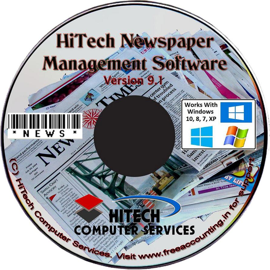 Newspaper Accounting Software CD